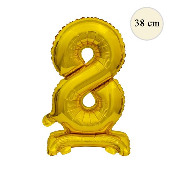 Fólia lufi, 8, talpas, arany, 38 cm