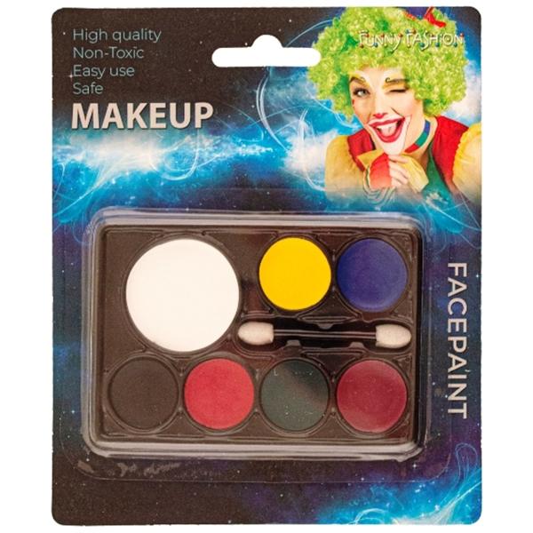 Party arcfesték készlet, 7 szín-ecsettel