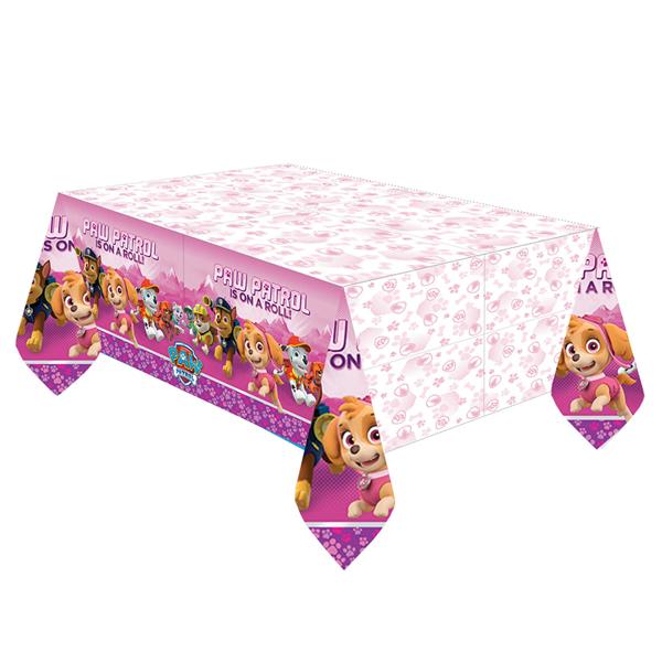 Asztalterítő, műanyag,  Paw Patrol, pink, 137x243cm