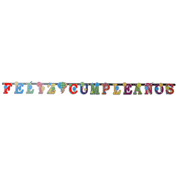 Feliz cumpleanos letter banner