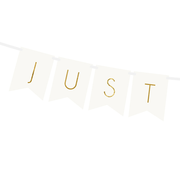 Fűzér Just Married, fehér, 15 x 155cm