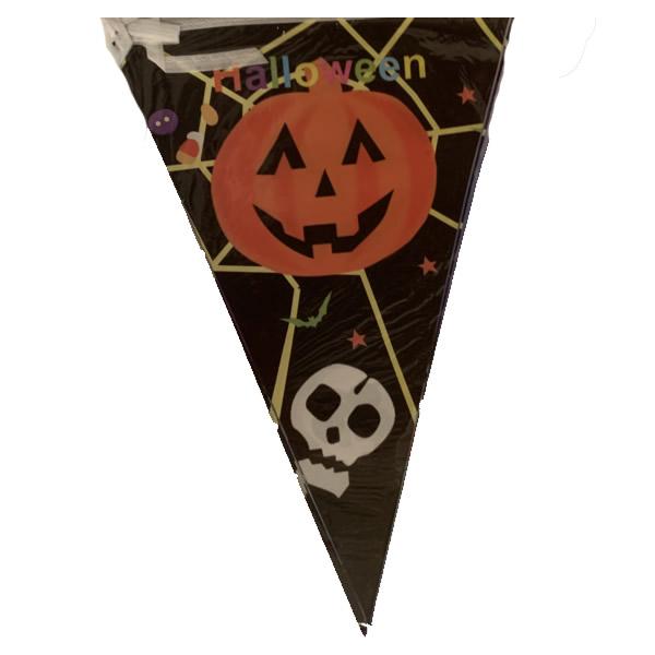 Halloween zászló,  vidám tök, koponya