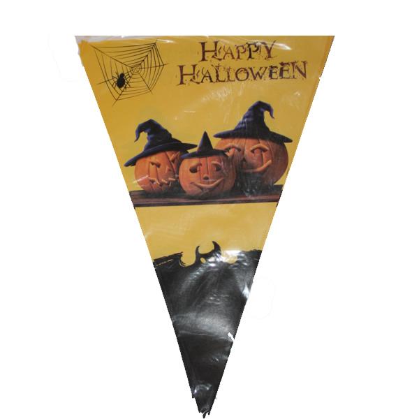 Halloween zászló, tök-denevér mintákkal
