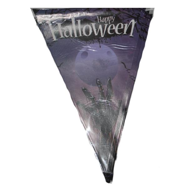 Halloween zászló, zombis mintával