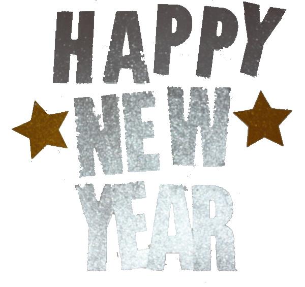 Happy new year betű fűzér, ezüst