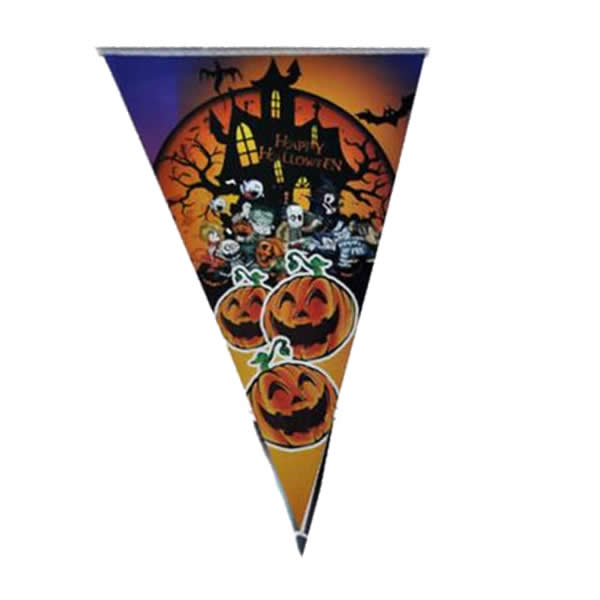 Halloween zászló,  kastély, vámpír család