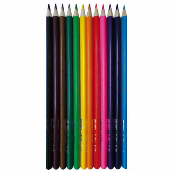 Ceruza színes klt 12 db belmil háromszögletű, prémium