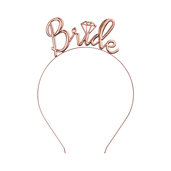 Bride fejdísz, rose gold