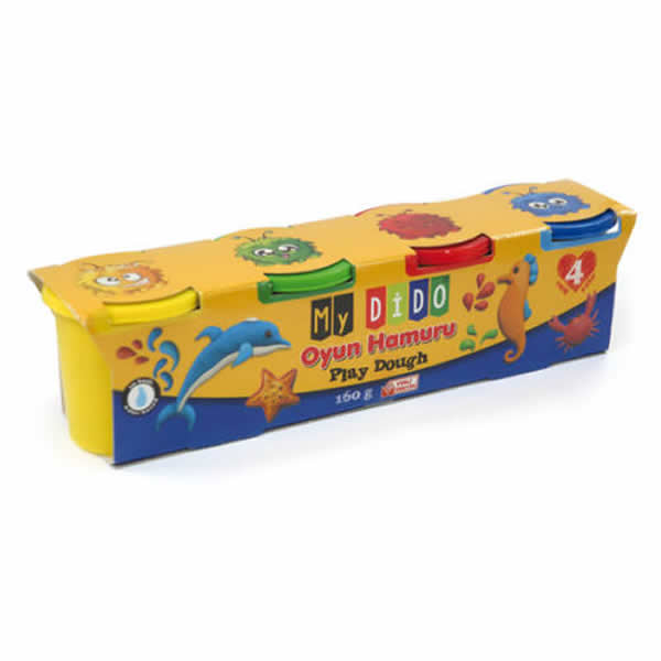 Gyurma 4x40g sárga, piros, kék, zöld