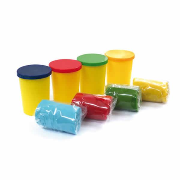 Gyurma 4x90g sárga, piros, kék, zöld