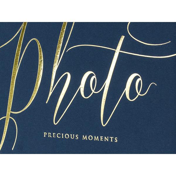 Fotóalbum, sötétkék, arany  betükkel, 22 lapos, 20x24.5 cm