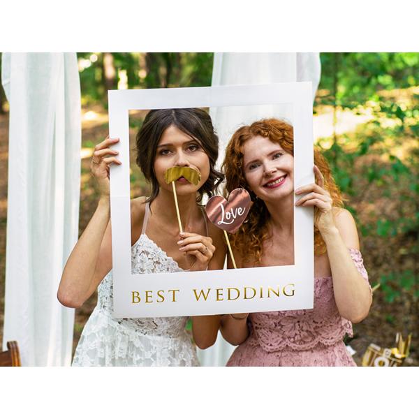 Esküvői szelfi kiegészítők, fotózáshoz, Best wedding