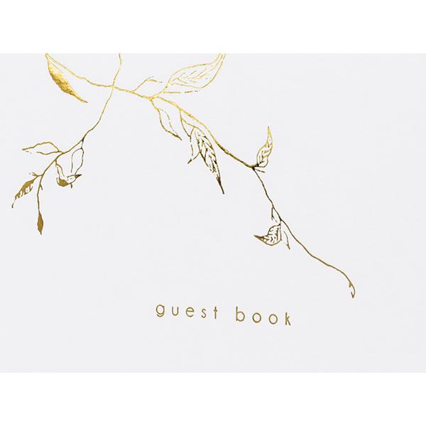 Vendégkönyv, arany ágakkal díszítve, 22 lapos