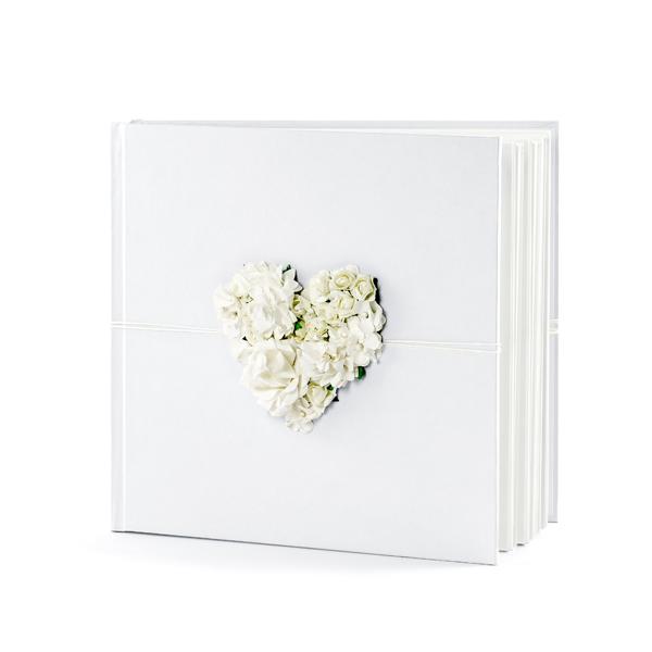 Vendégkönyv 20.5x20.5cm, fehér, 60 lapos
