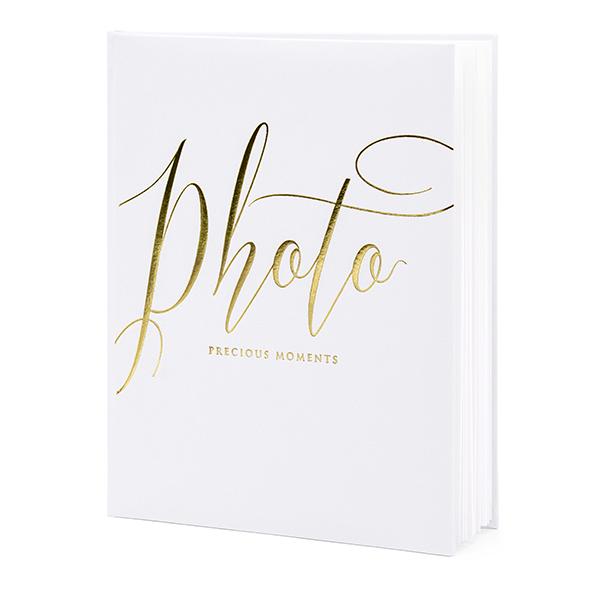 Fotóalbum, fehér, arany betükkel, 20x24.5cm, 22 lapos