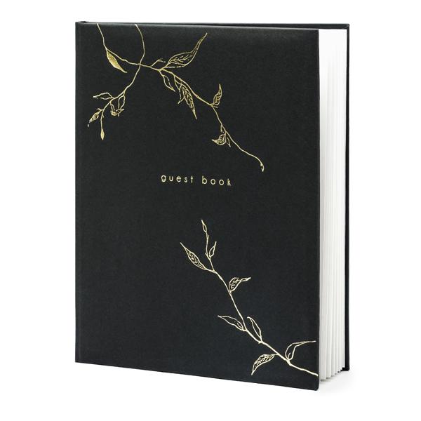 Vendégkönyv 20x24.5cm, fekete, 22 oldalas