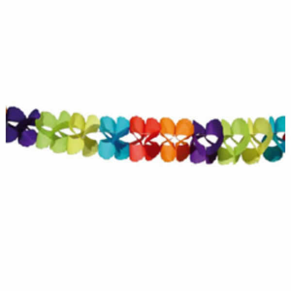 Girland 3 m, színes, pillangó