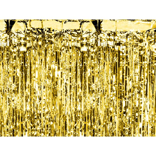 Party függöny, arany, 90 X 250 cm