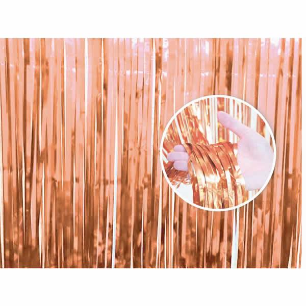 Party függöny, rose-gold, 90 X 240 cm