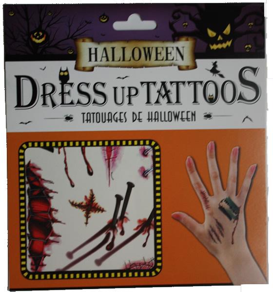 Halloween tetoválás, szög