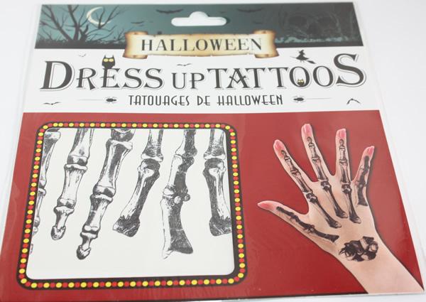 Halloween tetoválás, csont