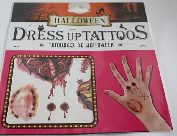 Halloween tetoválás, harapás