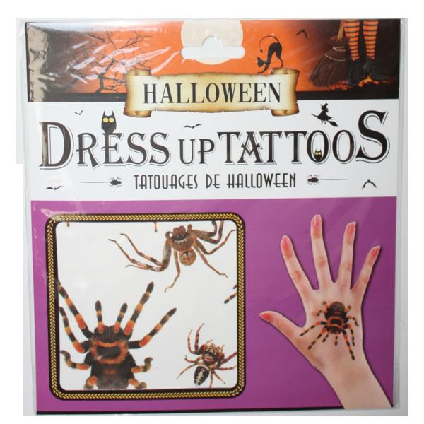 Halloween tetoválás, pókos
