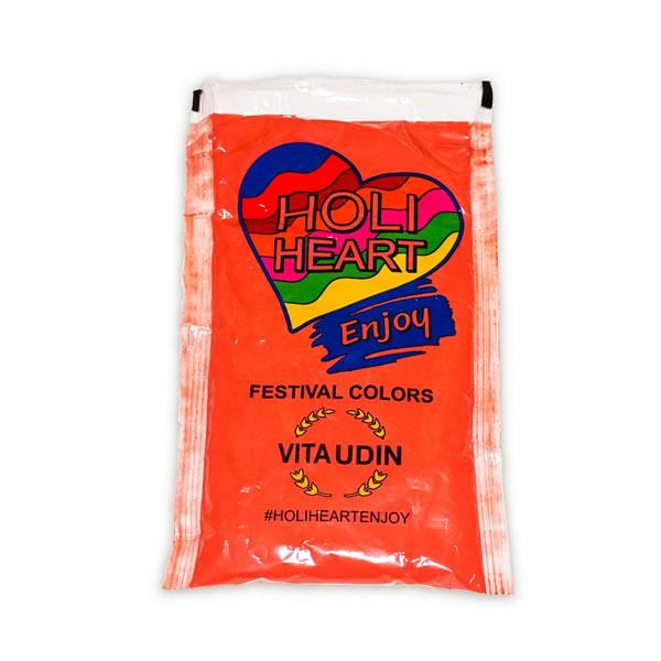 Fesztivál por, Holi Heart, piros, 120 gr