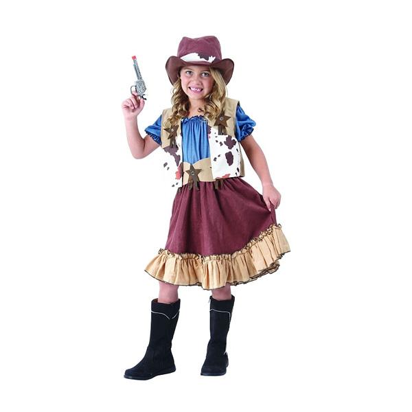 Cowboy lány gyermek jelmez 120/130