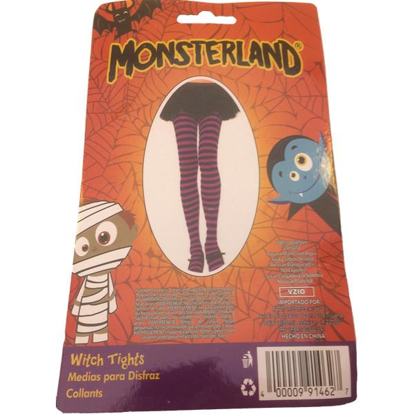 Halloween harisnya-zokni, lila-fekete