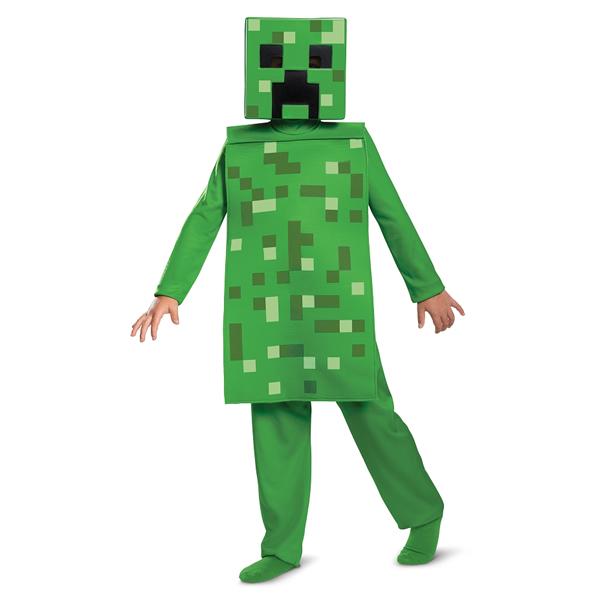 Creeper Classic szerepjáték-jelmez, Minecraft, S méret, 4-6 éveseknek