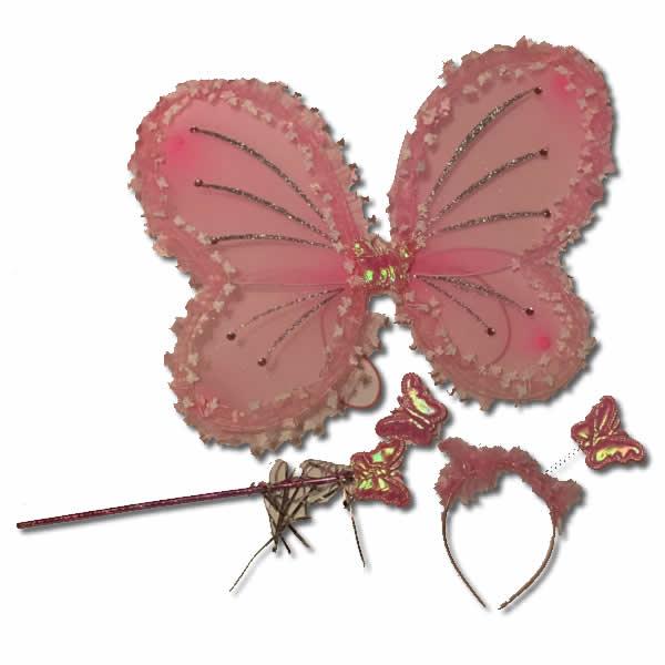 Pillangó szett, 3 db-os , rózsaszín