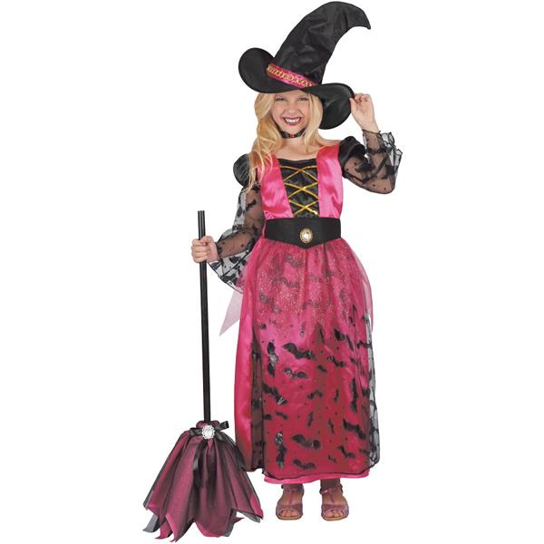Pink boszorkány, gyermek jelmez, 120/130