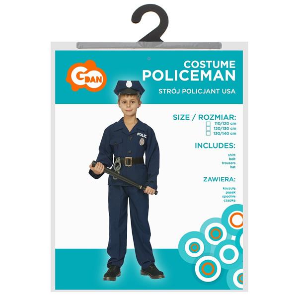 Rendőr gyermek jelmez 130/140