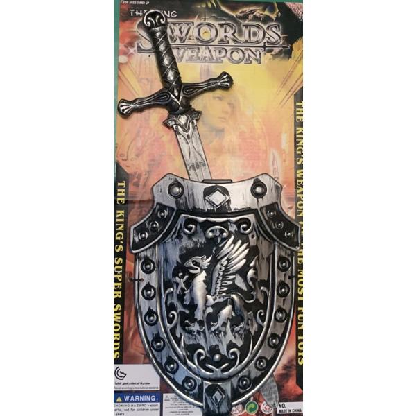 Lovagi szett, Kard+Pajzs, ezüst