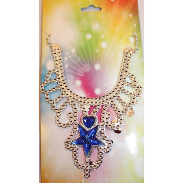 Hercegnő nyaklánc, csillagos, kék