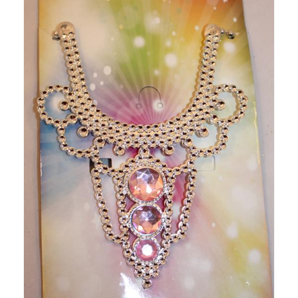 Hercegnő nyaklánc, gömb, rózsaszín