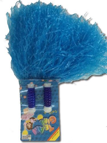 Pom-pom raffiából, kék