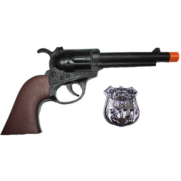 Seriff pisztoly + jelvény