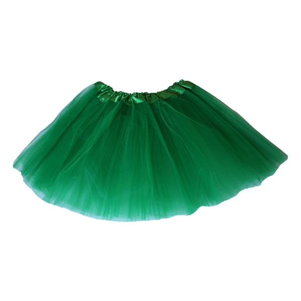 Tüll szoknya, zöld