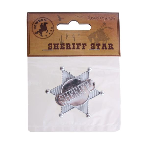 Seriff csillag, kitűző, 6cm
