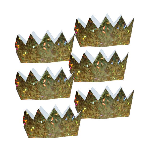 Arany kicsi papír korona 6 db/cs