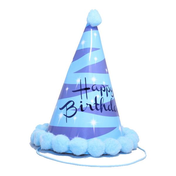 Bogyós parti kalap, birthday kék-lila
