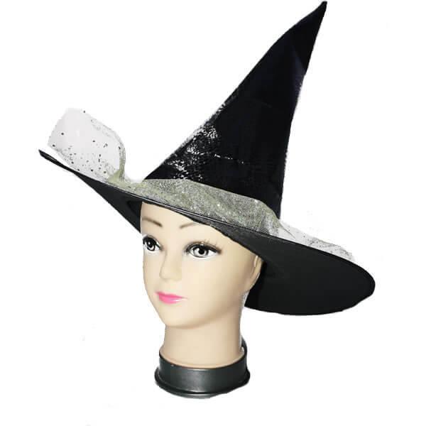 Boszorkány kalap, tüllel