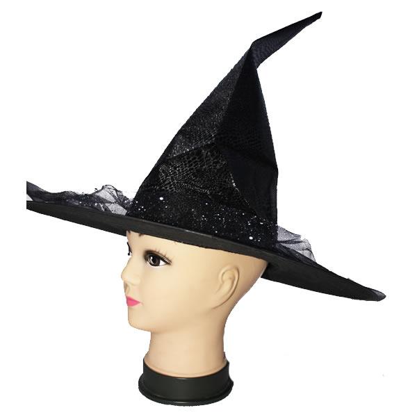 Boszorkány kalap, sárga tüllel