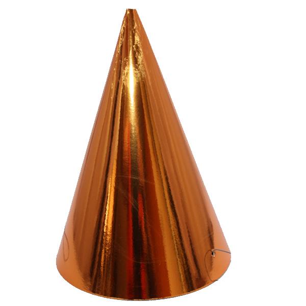 Kicsi kalap, fényes, arany 6 db/cs