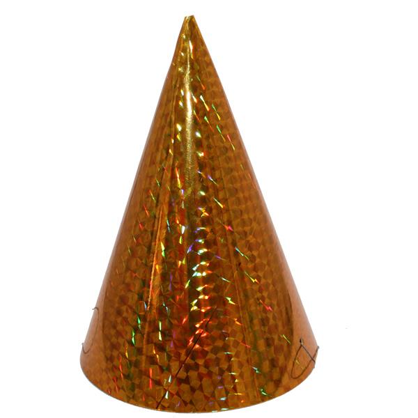 Kicsi kalap, hologramos, arany 6 db/cs