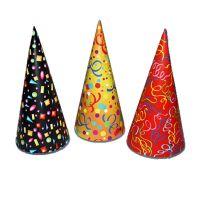 Party csúcsos közepes kalap, 10db/csomag
