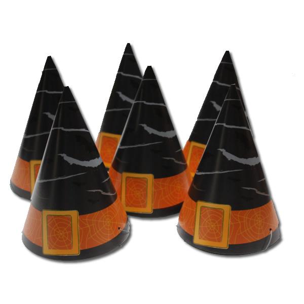 Party csúcsos HALLOWEEN kalap 6 db/cs