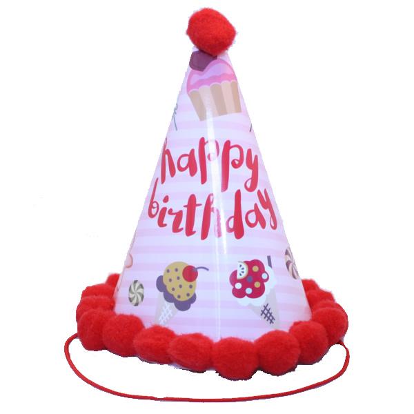 Bogyós parti kalap, happy birthday, édességes